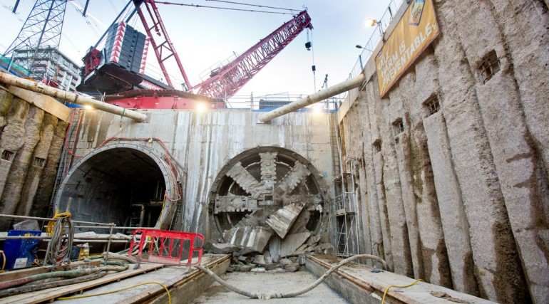 TBM Ellie breaks through in Victoria Dock Portal October 2014_162514