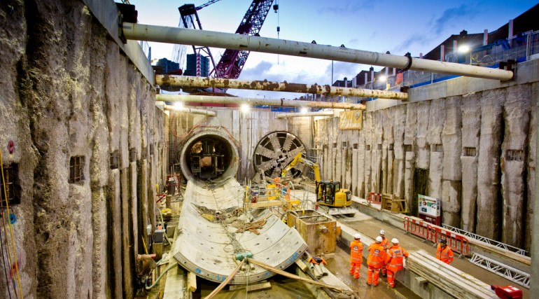 TBM Ellie breaks through in Victoria Dock Portal October 2014_162543