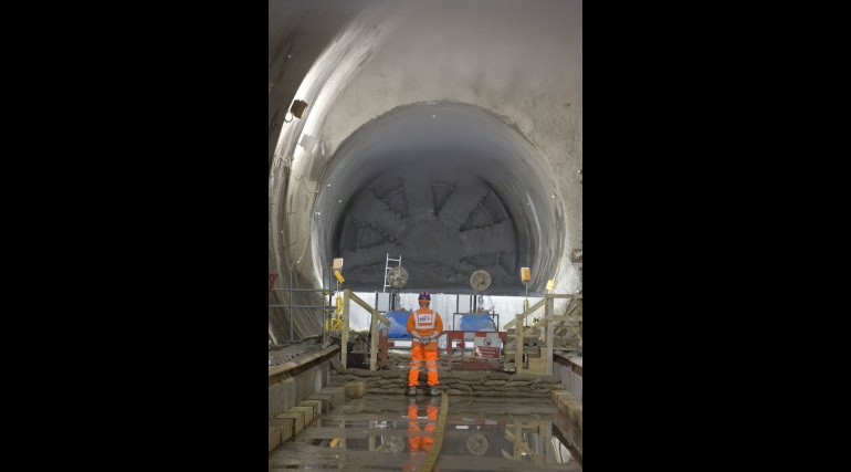TBM Ellie breaks through into Stepney Green cavern, June 2014_145020