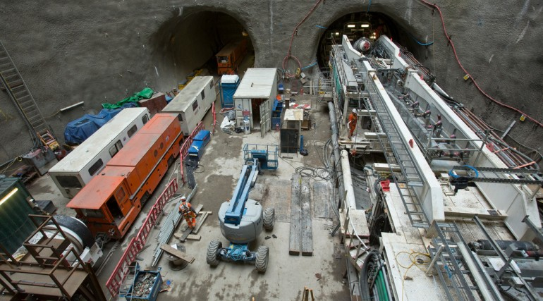 TBM Jessica re-assembled at Limmo to start second tunnel drive_142867