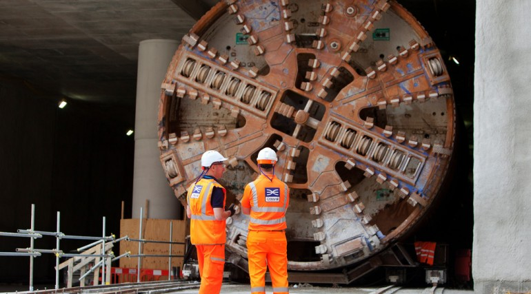 TBM Sophia undergoing maintenance at Woolwich Station box_94716