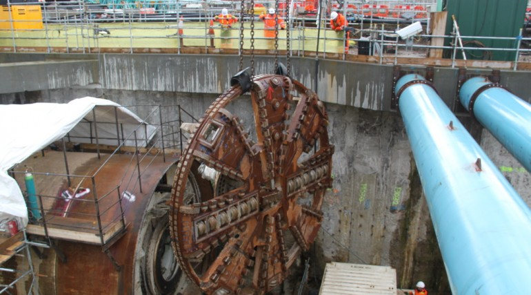 TBM Sophia's cutterhead is removed following completion of her tunnel drive_127848