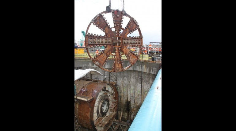TBM Sophia completes tunnel drive at North Woolwich portal, January 2014_127874