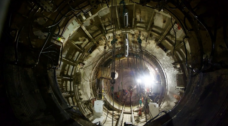 TBM Victoria and Elizabeth dismantled at Farringdon after completing their tunnelling journey under