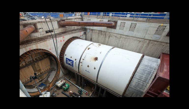 Crossrail's first tunnel boring machine breaks ground at Royal Oak