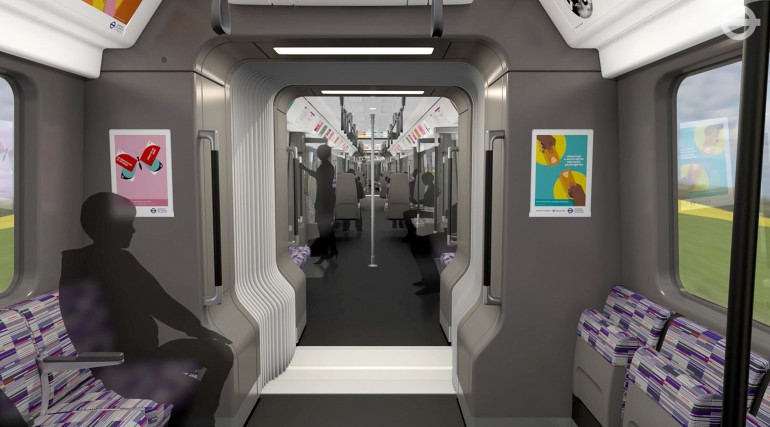 TfL image - Crossrail Train interior walk-through_214483