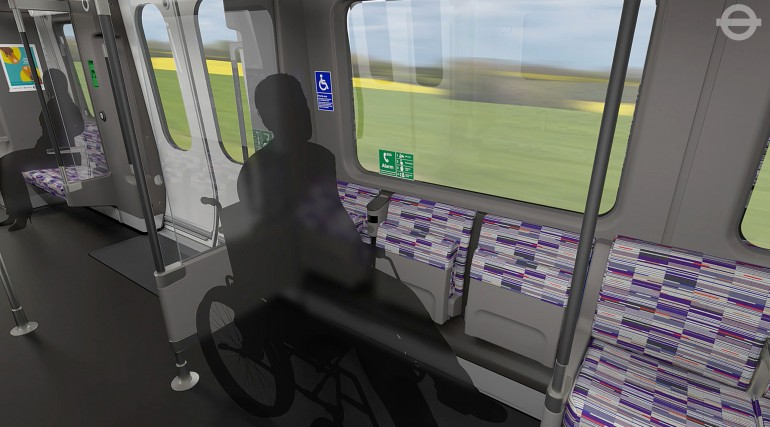 TfL image - Crossrail Train wheelchair bay_214484