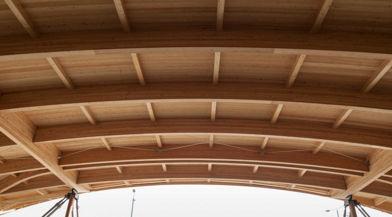 Timber structure of the roof for Elizabeth line Abbey Wood station_250712