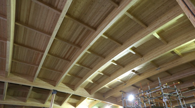 Timber structure of the roof for Elizabeth line Abbey Wood station_262218