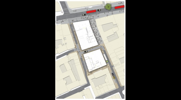 Tottenham Court Road - plan of Dean Street ticket hall urban realm_138940