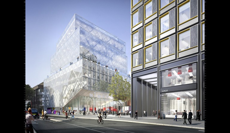 Tottenham Court Road - artists impression of over site development for the east ticket hall