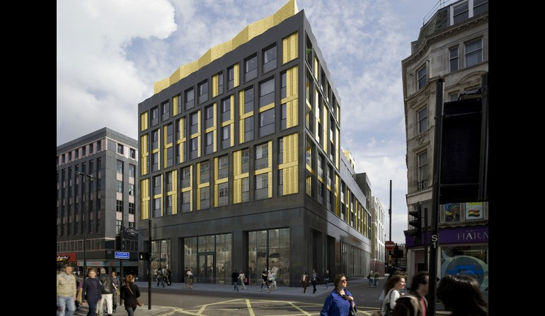 Tottenham Court Road - Artists impression of over site developments for the west ticket hall