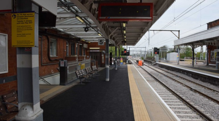 Track and station improvements at Shenfield completed as TfL Rail services return_269248