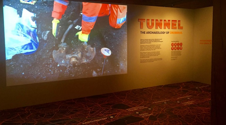 Tunnel - The Archaeology of Crossrail exhibition at Museum of London Docklands_262157