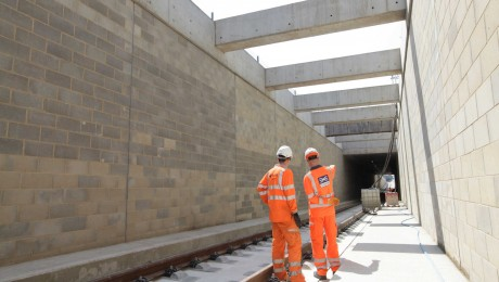 New train underpass at Acton reaches structural completion