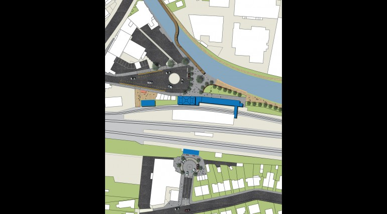 West Drayton Station - plan of proposed urban realm_138942
