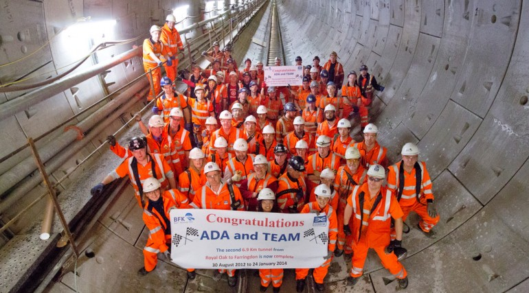 Western Tunnels team celebrate end of tunnelling Jan 2014_121552