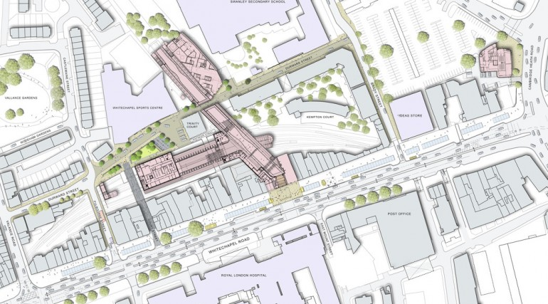 Whitechapel Station - plan of proposed urban realm_139048