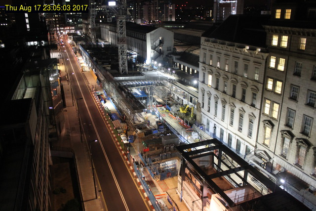 Crossrail webcam: Paddington Station - view of Eastbourne Terrace from Praed Street