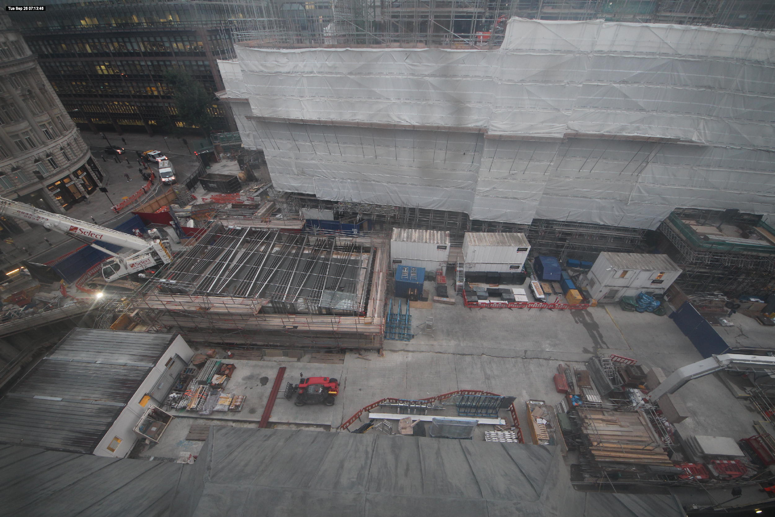 Current works at Liverpool Street Station