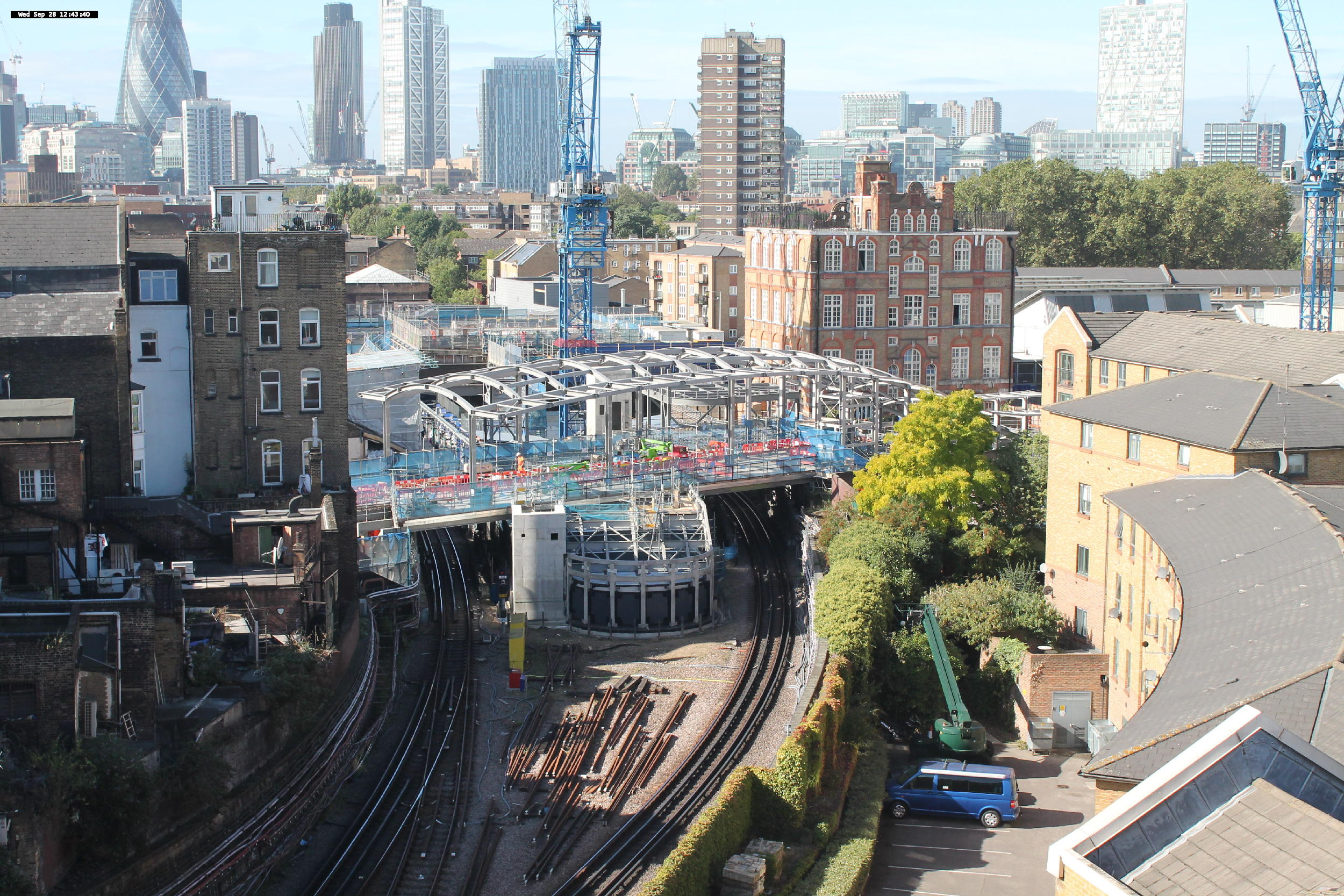 Crossrail webcam: Whitechapel Station