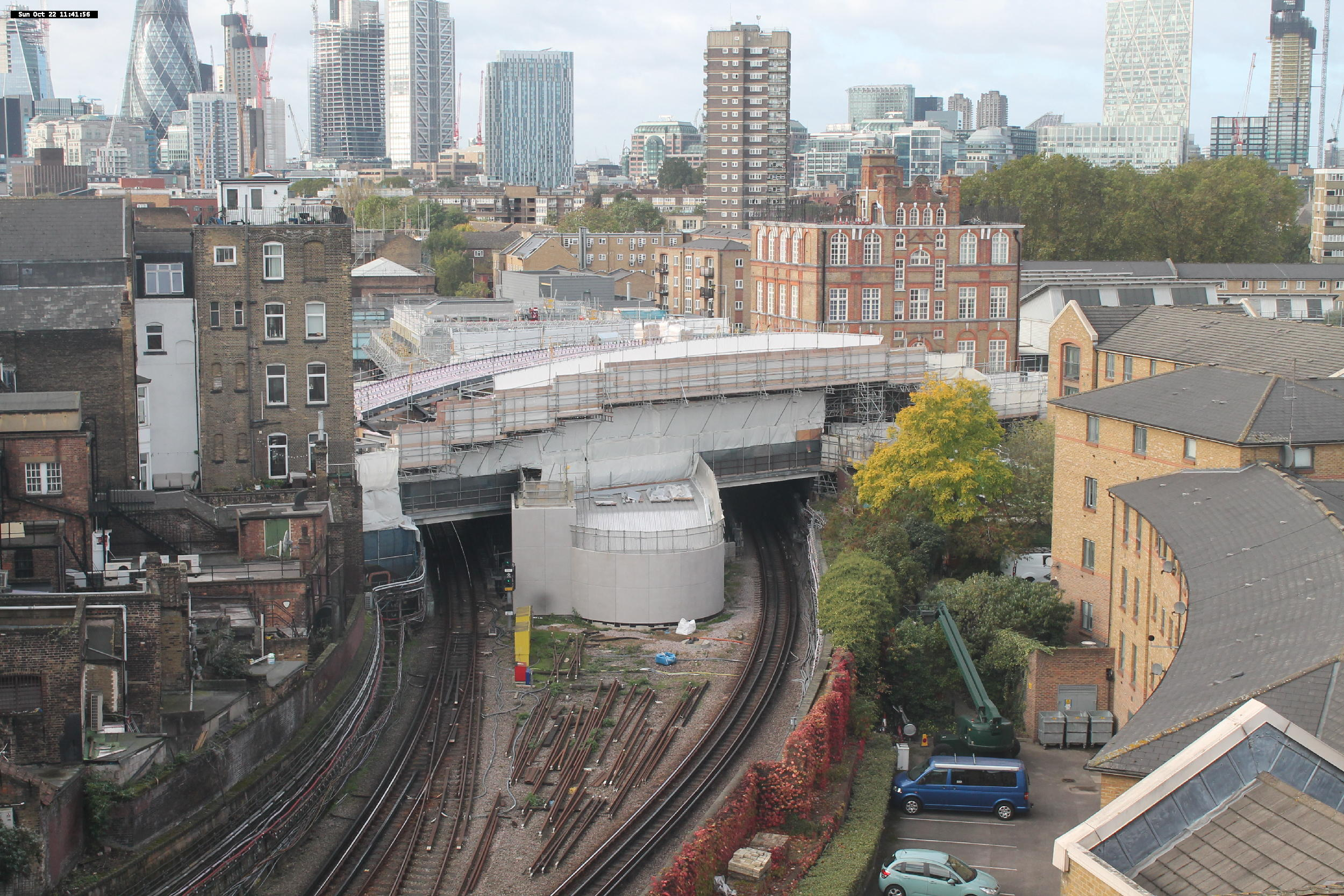 Current works at Whitechapel Station
